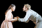 The Seagull <br /> by Anton Chekhov <br /> a new version by Torben Betts<br /> directed by Matthew Dunster<br /> at Regent's Park Open Air Theatre, London, Great Britain <br /> press photocall <br /> 22nd June 2015 <br /> <br /> <br /> <br /> Alex Robertson as Boris <br /> <br /> Sabrina Bartlett as Nina<br /> <br /> <br /> Photograph by Elliott Franks <br /> Image licensed to Elliott Franks Photography Services