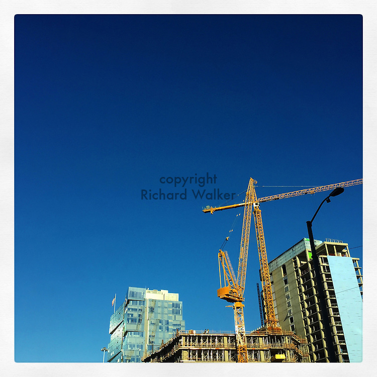 2016 13 September - New construction near stadium district and Pioneer Square, Seattle, WA. By Richard Walker