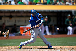 OAKLAND, CA - JULY 23:  Josh Donaldson #20 of the Toronto Blue Jays at bat against the Oakland Athletics during the seventh inning at O.co Coliseum on July 23, 2015 in Oakland, California. The Toronto Blue Jays defeated the Oakland Athletics 5-2. (Photo by Jason O. Watson/Getty Images) *** Local Caption *** Josh Donaldson