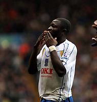 Photo: Mark Stephenson/Sportsbeat Images.<br /> Aston Villa v Portsmouth. The FA Barclays Premiership. 08/12/2007.Porstmouth's Sulley Ali Muntari celebrates his 2ed goal