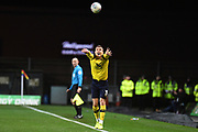 Oxford United defender Josh Ruffels (3) takes a throw in during the EFL Sky Bet League 1 match between Oxford United and Shrewsbury Town at the Kassam Stadium, Oxford, England on 7 December 2019.