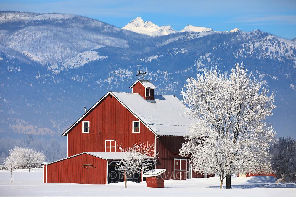 Red Barn on the Teller Wildlife Refuge, Corvallis Montana.