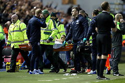 Anthony Knockaert of Brighton & Hove Albion is stretchered off after picking up an injury - Mandatory by-line: Robbie Stephenson/JMP - 13/05/2016 - FOOTBALL - Hillsborough - Sheffield, England - Sheffield Wednesday v Brighton and Hove Albion - Sky Bet Championship Play-off Semi Final first leg