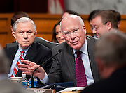 Jul 20, 2010 - Washington, District of Columbia, U.S., - Senator PATRICK LEAHY (D-VT) makes a statement before the Senate Judiciary Committee voted, 13-6, in favor of Solicitor General Kagan's confirmation to the Supreme Court. The vote was largely along party lines except for Senator Graham, (R-S.C.),  who broke ranks with his GOP colleagues by supporting her. The full Senate is expected to take up Kagan's nomination in early August..(Credit Image: © Pete Marovich/ZUMA Press)