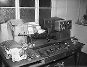 Arms and radio transmitter seized by Gardai. 16/04/1958.
