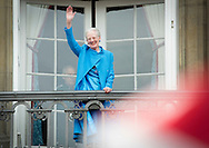 Copenhagen, 16-04-2016<br /> <br /> Danish Royal Family at the balcony of Amalienborg Palace on the occasion of Queen Margrethe's birthday.<br /> <br /> ROYALPORTRAITS EUROPE BERNARD RUEBSAMEN