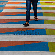 "CRUCE PEATONAL ""COLOR ADITIVO"" DE CARLOS CRUZ DÍEZ / CROSSWALKS OF ADDITIVE  COLOUR"