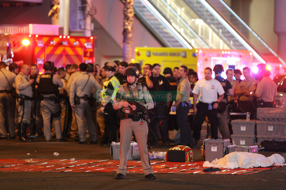 Las Vegas massive shooting which has claimed 58 lives and over 500 injured after 64 year old Stephen Paddock open fire from the Mandalay bay hotel. 01 Oct 2017 Pictured: Las Vegas shooting. Photo credit: gotpap/Bauergriffin.com / MEGA TheMegaAgency.com +1 888 505 6342