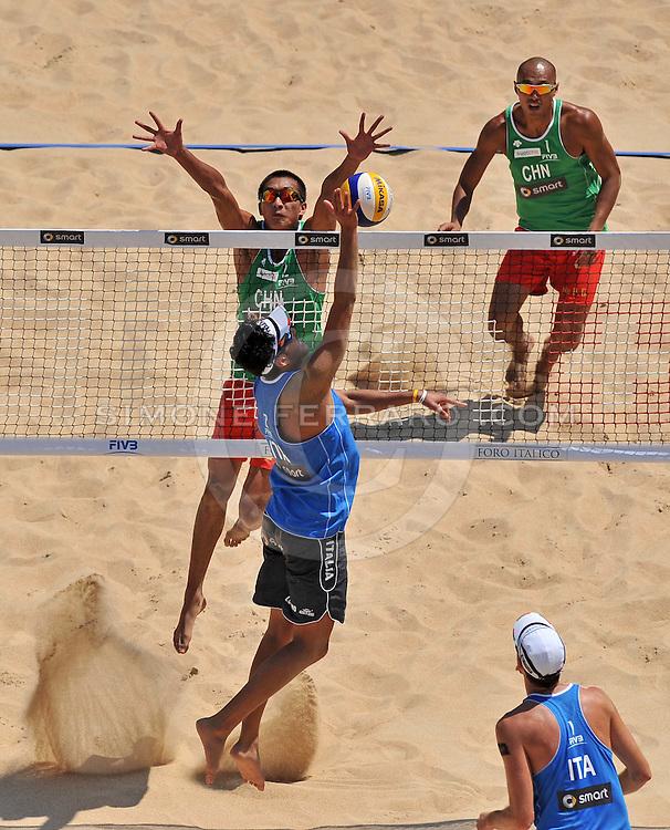 Roma, 16/06/2011..Swatch World Championships Rome2011. Foro Italico..Xu-WuCHN vs Tomatis-Lupo ITA.Foto Simone Ferraro - GMT