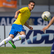 TOULON, FRANCE June 15.  Antony #7 of Brazil in action during the Brazil U22 V Japan U22 Final match at the Tournoi Maurice Revello at Stade D'Honneur on June 15th 2019 in Toulon, Provence, France. (Photo by Tim Clayton/Corbis via Getty Images)