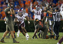 Texas A&M vs. Florida NCAA college football game Saturday, Oct. 14, 2017, in Gainesville, Florida.