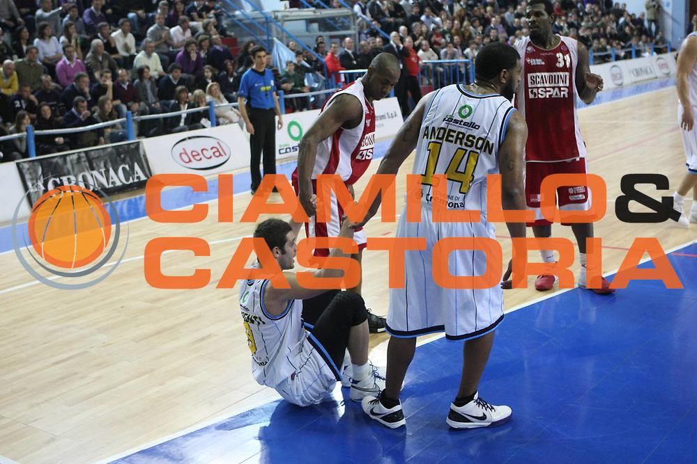 DESCRIZIONE : Cremona Lega A 2009-10 Vanoli Cremona Scavolini Spar Pesaro<br />GIOCATORE : Matteo Formenti  Rashad Anderson Michael Hicks<br />SQUADRA : Vanoli Cremona Scavolini Spar Pesaro<br />EVENTO : Campionato Lega A 2009-2010<br />GARA : Vanoli Cremona  Scavolini Spar Pesaro<br />DATA : 03/04/2010<br />CATEGORIA : Fair Play<br />SPORT : Pallacanestro<br />AUTORE : Agenzia Ciamillo-Castoria/F.Zovadelli<br />GALLERA : Lega Basket A 2009-2010<br />FOTONOTIZIA : Cremona Campionato Italiano Lega A 2009-2010 Vanoli Cremona  Scavolini Spar Pesaro