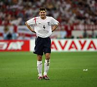 Photo: Chris Ratcliffe.<br /> England v Portugal. Quarter Finals, FIFA World Cup 2006. 01/07/2006.<br /> Steven Gerrard of England.