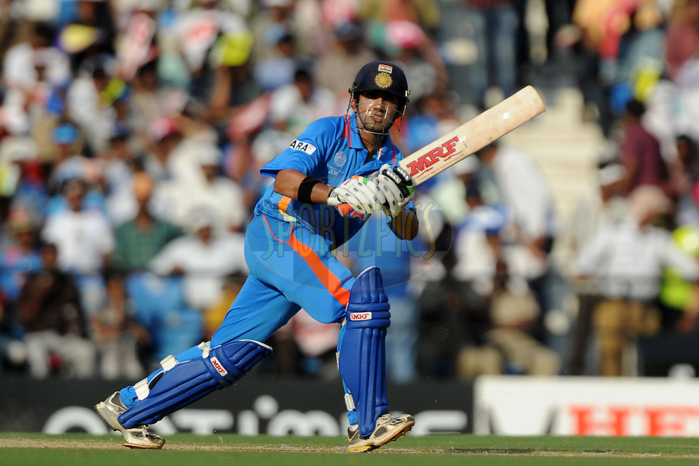 Gautam Gambhir of India bats during the ICC Cricket World Cup match between India and South Africa held at the Vidarbha Cricket Stadium in Nagpur on the 12 March 2011..Photo by Pal Pillai/BCCI/SPORTZPICS
