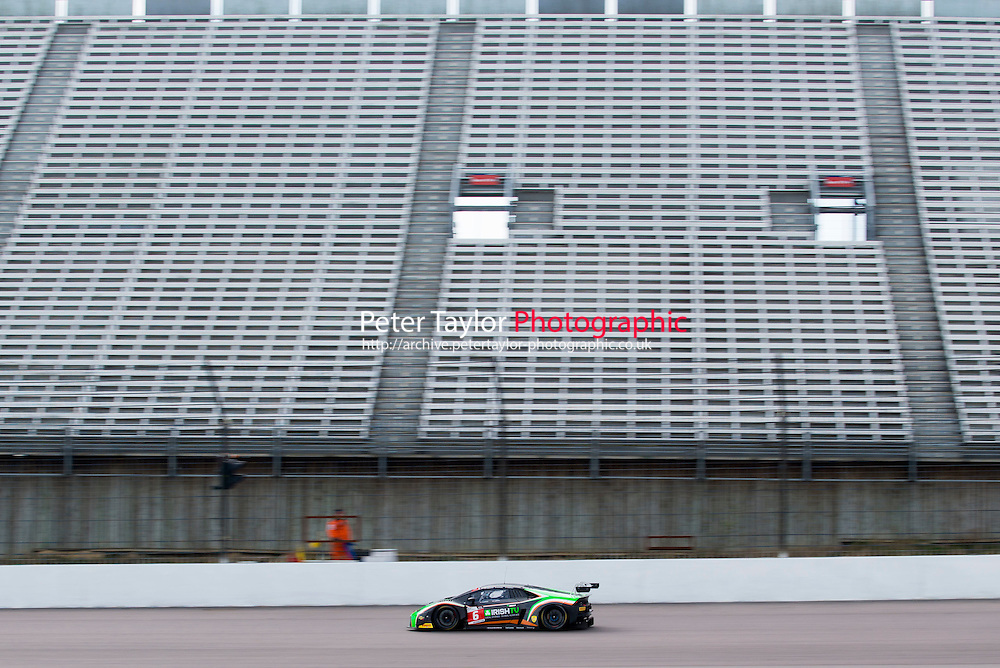 Liam Griffin (GBR) / Adam Carroll (GBR)  #6 Barwell Motorsport  Lamborghini Huracan GT3  Lamborghini 5.2L V10 British GT Championship at Rockingham, Corby, Northamptonshire, United Kingdom. April 30 2016. World Copyright Peter Taylor/PSP.