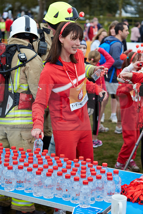 © Licensed to London News Pictures.  23/03/2014. OXFORD, UK.  SAMANTHA CAMERON (centre) at the end of the Oxford Sport Relief Mile. Photo credit: Cliff Hide/LNP