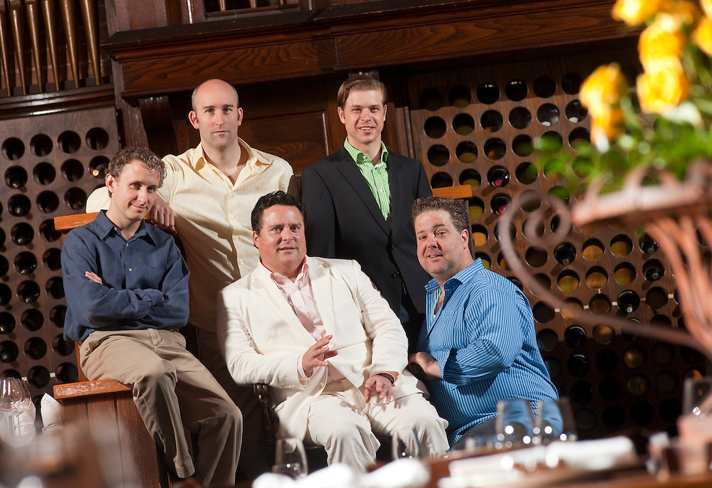 Stratford, Ontario ---10-07-14--- From left, Michael Therriault, Jonathan Monro, Sean Cullen, Kyle Golemba and Bruce Dow will perform in the Stratford Summer Music Cabaret Series at The Church Restaurant in Stratford, Ontario this summer.<br /> GEOFF ROBINS Toronto Star