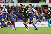Brighton & Hove Albion centre forward Tomer Hemed (10) during the EFL Sky Bet Championship match between Ipswich Town and Brighton and Hove Albion at Portman Road, Ipswich, England on 27 September 2016.