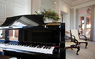 A piano in the living room at Glenmere Mansion in Chester on Thursday, Dec. 16, 2009.