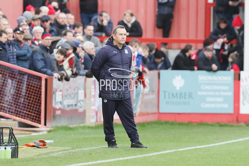 Micky Mellon during the EFL Sky Bet League 2 match between Cheltenham Town and Tranmere Rovers at LCI Rail Stadium, Cheltenham, England on 12 January 2019.