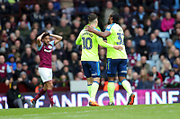 Aston Villa v Derby County - Sky Bet Championship<br /> BIRMINGHAM, ENGLAND - APRIL 28 :  Cameron Jerome, of Derby County, celebrates after scoring, along with Tom Lawrence