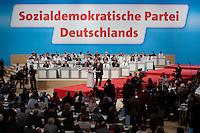 13 NOV 2009, DRESDEN/GERMANY:<br /> Sigmar Gabriel, SPD desig. Parteivorsitzender, waehrend seiner Rede vor seiner Wahl zum Parteivorsitzender, SPD Bundesparteitag, Messe Dresden<br /> IMAGE: 20091113-01-280<br /> KEYWORDS: party congress, SPD Parteitag, speech, Uebersicht, Übersicht
