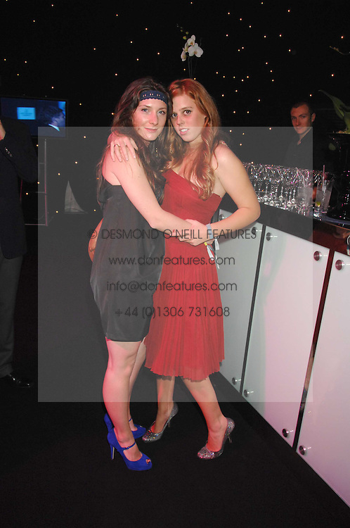 Left to right, SARAH LANGRIDGE and HRH PRINCESS BEATRICE OF YORK at the Berkeley Square End of Summer Ball in aid of the Prince's Trust held in Berkeley Square, London on 27th September 2007.<br />