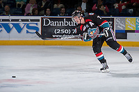 KELOWNA, CANADA - SEPTEMBER 28:   Damon Severson #7 of the Kelowna Rockets makes a pass against the Victoria Royals at the Kelowna Rockets on September 28, 2013 at Prospera Place in Kelowna, British Columbia, Canada (Photo by Marissa Baecker/Shoot the Breeze) *** Local Caption ***