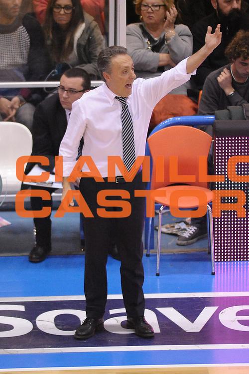 DESCRIZIONE : Brindisi  Lega A 2014-15 Enel Brindisi Acea Roma<br /> GIOCATORE : Bucchi Piero <br /> CATEGORIA : Allenatore Coach<br /> SQUADRA : Enel Brindisi<br /> EVENTO : Enel Brindisi Acea Roma<br /> GARA :Enel Brindisi <br /> DATA : 26/12/2014<br /> SPORT : Pallacanestro<br /> AUTORE : Agenzia Ciamillo-Castoria/M.Longo<br /> Galleria : Lega Basket A 2014-2015<br /> Fotonotizia : Enel Brindisi Acea Roma<br /> Predefinita :
