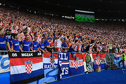 Fans of Croatia during the UEFA EURO 2008 Group B soccer match between Austria and Croatia at Ernst-Happel Stadium, on June 8,2008, in Vienna, Austria.  (Photo by Vid Ponikvar / Sportal Images)