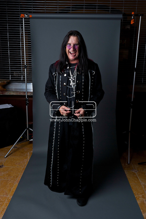 24th February 2011. Las Vegas, Nevada.  Celebrity Impersonators from around the globe were in Las Vegas for the 20th Annual Reel Awards Show. Pictured is Don Rugg, 54,as Ozzy Osbourne. Photo © John Chapple / www.johnchapple.com..