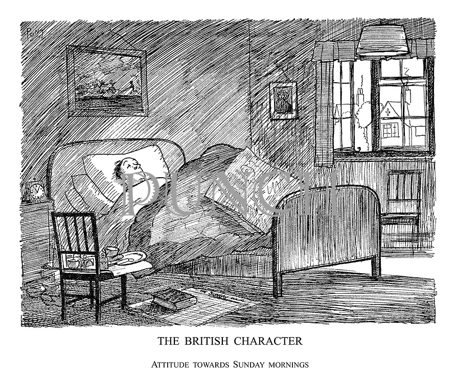 The British Character. Attitude Towards Sunday Mornings.