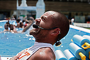 Italy, Florence, Fortezza da Basso, Fitfestival, aquafitness lesson