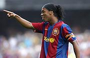 RONALDINHO - 02.09.2007 - Barcelone / Athletic Bilbao - 2eme journee de Liga.Photo : Qhino / Icon Sport