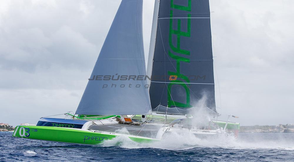 MOD 70 Phaedo³   Saint Marteen, 8th March 2015 , Heineken Regatta,  around the Island race.