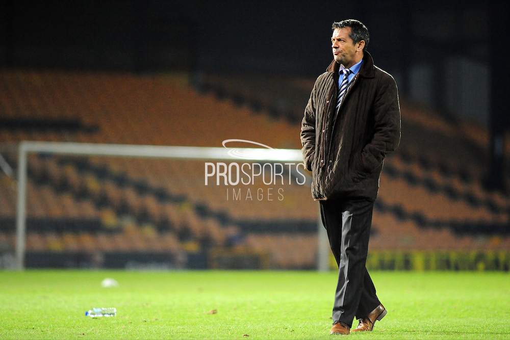 Southend boss Phil Brown during the Sky Bet League 1 match between Port Vale and Southend United at Vale Park, Burslem, England on 26 February 2016. Photo by Mike Sheridan.
