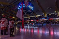 27.01.2019, Stadthalle, Klagenfurt, AUT, EBEL, EC KAC vs HC Orli Znojmo, 42. Runde, im Bild Jamie Lundmark Abschied // during the Erste Bank Eishockey League 42th round match between EC KAC and HC Orli Znojmo at the Stadthalle in Klagenfurt, Austria on 2019/01/27. EXPA Pictures © 2019, PhotoCredit: EXPA/ Gert Steinthaler
