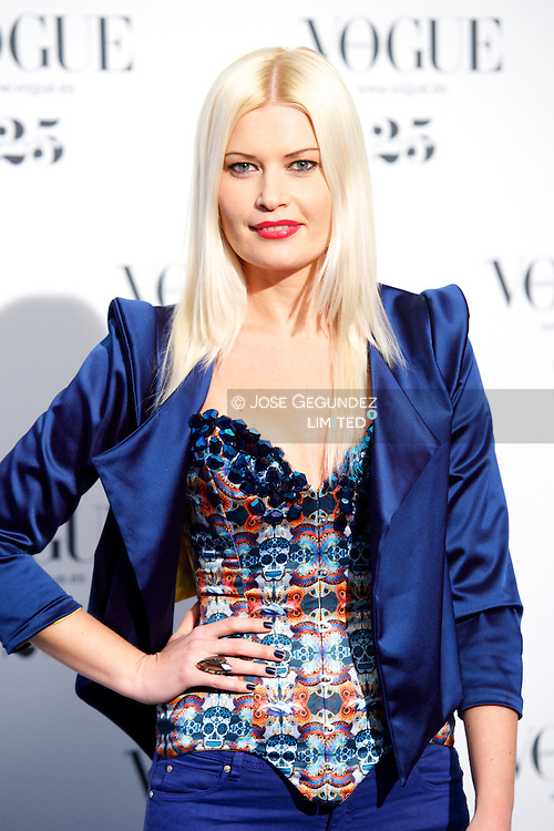 Maya Hansen attends Vogue 'Who's On Next' Party 2013 at Italian Embassy in Madrid