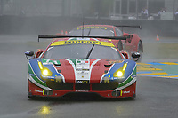 Davide Rigon (ITA) / Sam Bird (GBR) / Andrea Bertolini (ITA)  #71 AF Corse Ferrari 488 GTE,  during Le Mans 24 Hr June 2016 at Circuit de la Sarthe, Le Mans, Pays de la Loire, France. June 18 2016. World Copyright Peter Taylor/PSP. Copy of publication required for printed pictures.  Every used picture is fee-liable. http://archive.petertaylor-photographic.co.uk