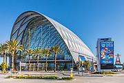 ARTIC Anaheim Transit Center With the Big A in the Background