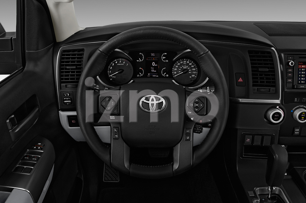 Car pictures of steering wheel view of a 2018 Toyota sequoia sr 5 Door SUV