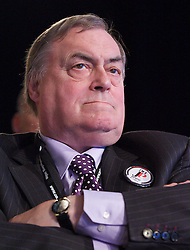 John Prescott in the audience during Ed Miliband's keynote speech to the Labour Party Conference in Manchester, October 2, 2012. Photo by Elliott Franks / i-Images.