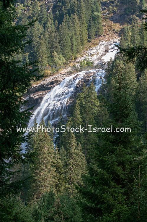 Grawa waterfall in the Stubai valley, Tyrol, Austria