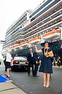 rotterdam - Queen Maxima of The Netherlands will baptize the ship The cruise ship MS Koningsdam harbour on May 20 2016 in Rotterdam, Netherlands. Queen Maxima of The Netherlands will baptize the ship copyright robin utrecht  20-5-2016 ROTTERDAM - Koningin Maxima doopt vrijdagmorgen 20 mei het cruiseschip ms Koningsdam van Holland America Line in Rotterdam. Het ms Koningsdam ligt voor de doop afgemeerd bij de cruiseterminal in Rotterdam. Het vaartuig van 99.500 ton is 297 meter lang en biedt plaats aan 2.650 gasten.  De doop en de naamgevingsceremonie vinden plaats aan boord van het schip. Na de doop vaart het schip naar haar zomerthuishaven in Amsterdam en wordt van daaruit ingezet voor een reeks cruises in Noord-Europa en de Oostzee. Holland America Line begon in 1873 als de Nederlandsch-Amerikaansche Stoomvaart-Maatschappij (NASM), een lijn voor vracht en passagiers. Het werd bekend als Holland America Line vanwege het hoofdkantoor in Rotterdam en de uitvoerende dienst aan Amerika. COPYRIGHT ROBIN UTRECHT  copyright robin utrecht