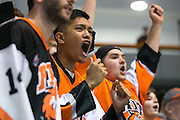 Wunna Kyaw '15 reacts to a call during an exhibition game at RIT's Gene Polisseni Center on Monday, September 29, 2014.