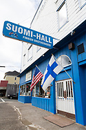 Fasaden av Suomi Hall i Astoria, Oregon.<br /> <br /> Foto: Christina Sj&ouml;gren