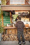 Chicken & Guns is a high class food cart at the Cartopia food pod in SE Portland, Oregon.