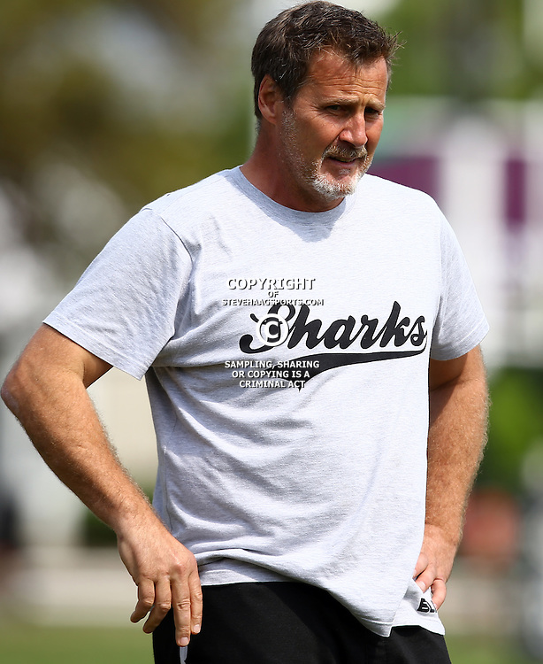 DURBAN, SOUTH AFRICA, 8 September, 2016 - Robert du Preez (Head Coach) of the Cell C Sharks during The Cell C Sharks training session at Growthpoint Kings Park in Durban, South Africa. (Photo by Steve Haag)<br /> <br /> images for social media must have consent from Steve Haag