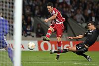 FOOTBALL - UEFA EUROPA LEAGUE 2012/2013 - GROUP STAGE - GROUP I - OLYMPIQUE LYONNAIS v ATHLETIC BILBAO - 25/10/2012 - PHOTO EDDY LEMAISTRE / DPPI - DEJAN LOVREN   (OL) AND OSCAR DE MARCOS (ACB)