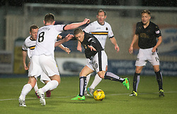 Falkirk's John Baird shoots.<br /> Falkirk 1 v 0 Dumbarton, Scottish Championship game played 26/12/2015 at The Falkirk Stadium.